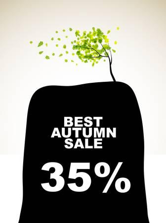 autumn discount sale Stock Vector - 15823543