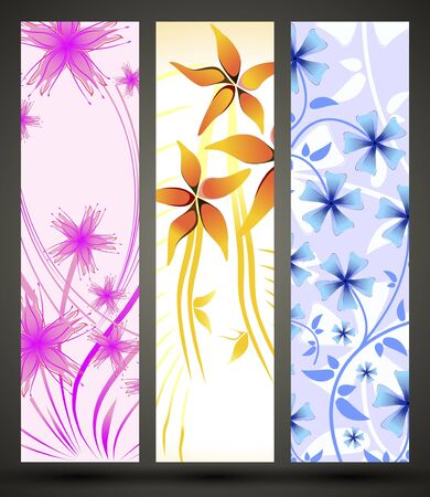 banner with floral pattern Stock Vector - 15823537