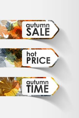 autumn sticker Vector