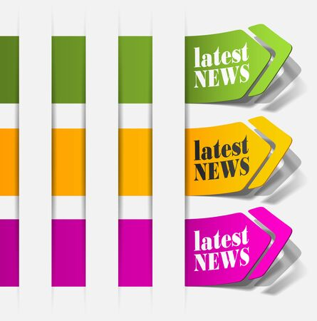 latest news, realistic design elements Stock Vector - 15991877