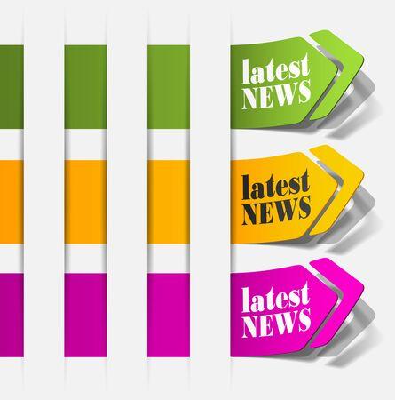 latest news, realistic design elements Stock Vector - 15991877