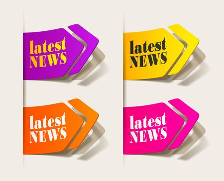 latest news, realistic design elements Stock Vector - 16235008