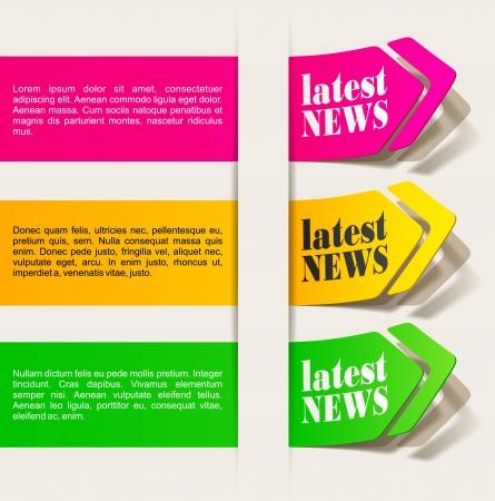 最新ニュース、現実的なデザインの要素  イラスト・ベクター素材