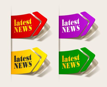 latest news, realistic design elements Stock Vector - 16419896
