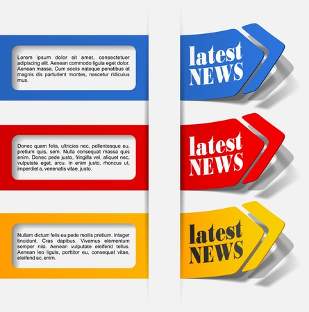 latest news, realistic design elements Stock Vector - 16419945
