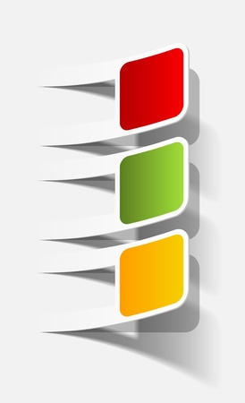 traffic lights in the form of a sticker Vectores