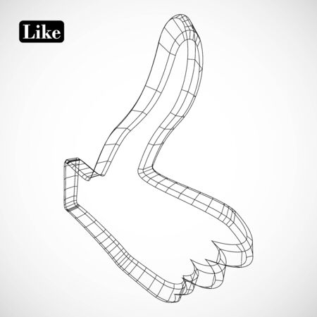 abstract symbol of LIKE in style 3D Stock Vector - 16865932