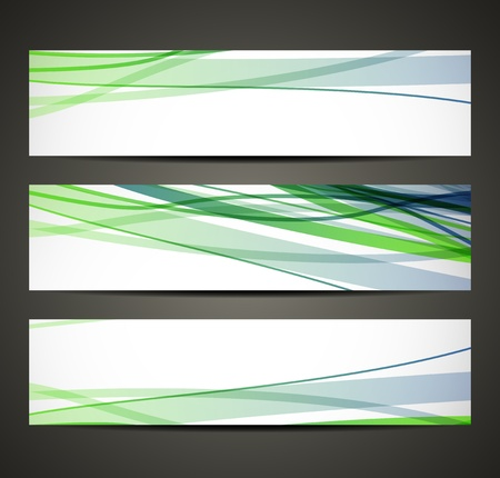banner with abstract pattern Vector