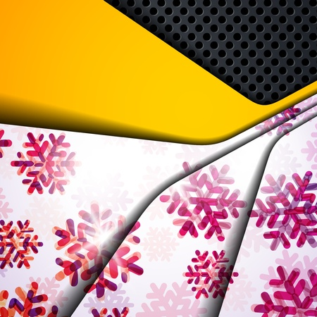 layered abstract background with snowflakes image Stock Vector - 17250140