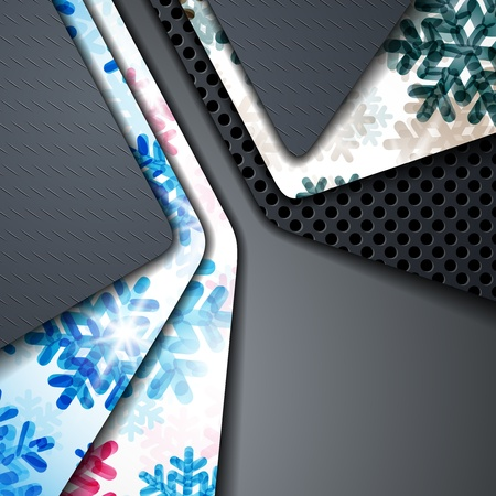 layered abstract background with snowflakes image Stock Vector - 17250143