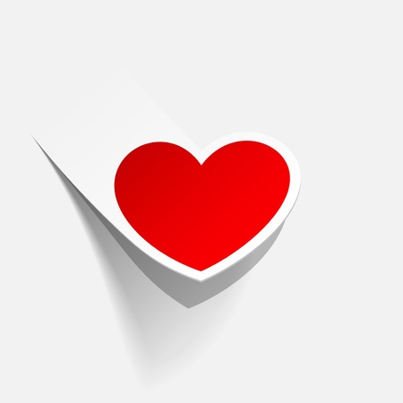 valentine heart in the form of a sticker Stock Vector - 17250129