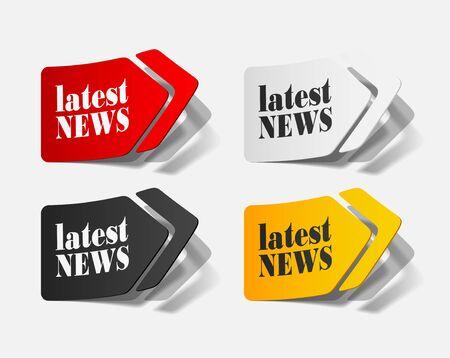latest news, realistic design elements Stock Vector - 17307839