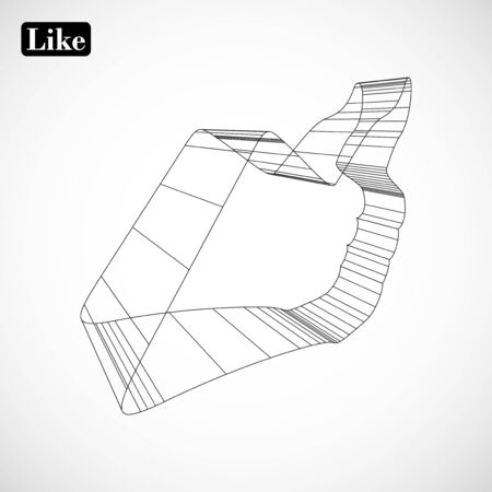 abstract symbol of LIKE in style 3D Stock Vector - 17365721