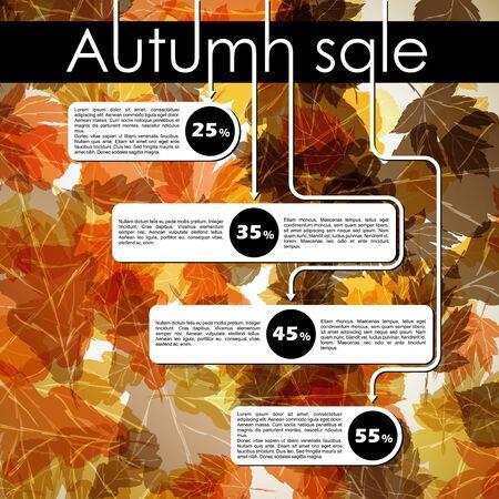 autumn discount sale Stock Vector - 17471886