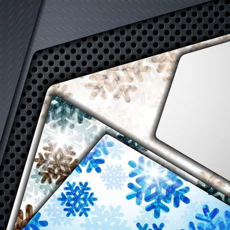 layered abstract background with snowflakes image Stock Vector - 17471892