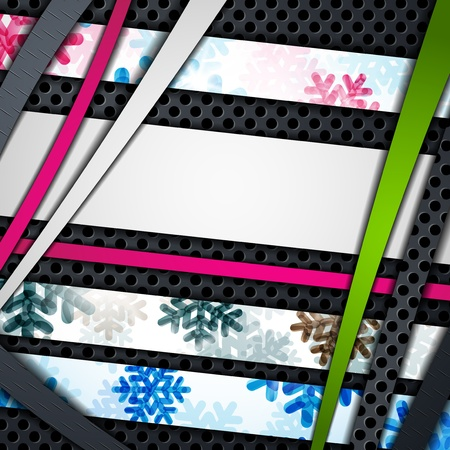 layered abstract background with snowflakes image Stock Vector - 17471890