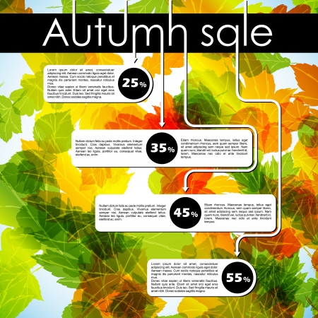 autumn discount sale Illustration