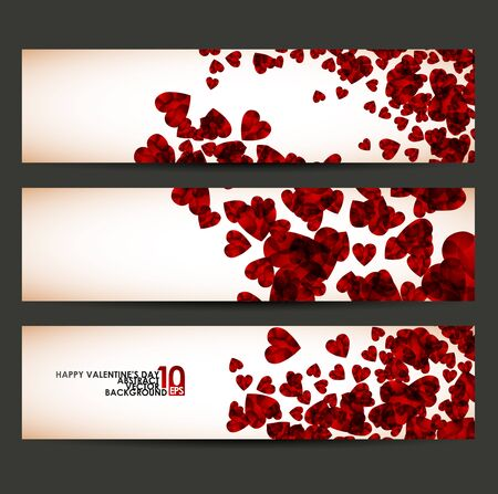 banner with hearts valentine Stock Vector - 17997839