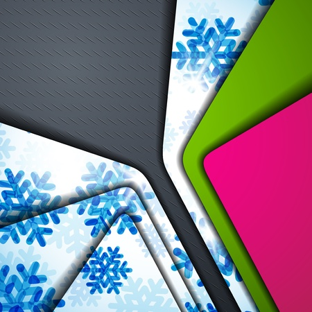 layered abstract background with snowflakes image Stock Vector - 17997902