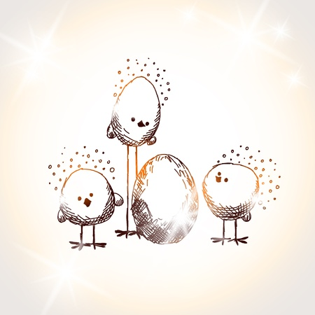 Easter chicks Stock Vector - 18069703