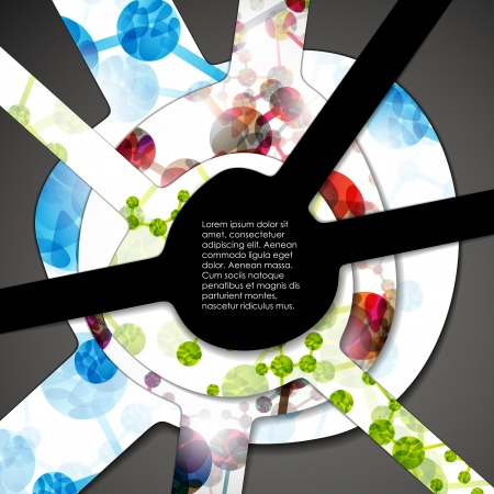 bookmark background: multi layered abstract medical background with the theme of DNA