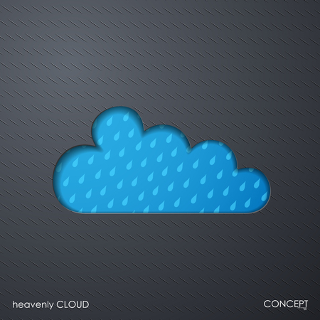 icon of clouds and rain Vector