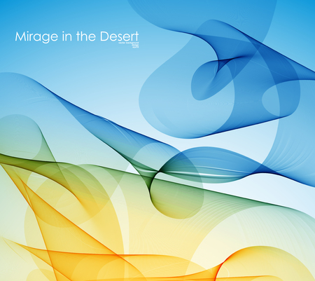 mirage: abstraction, a mirage in the desert Illustration