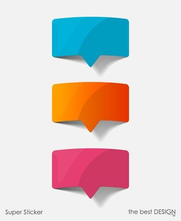 elements design: speech bubble, realistic design elements Illustration