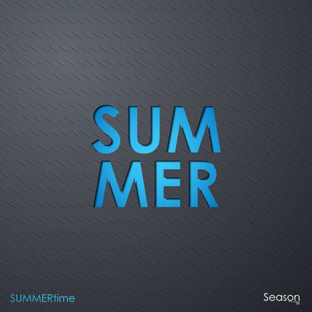 the word summer Stock Vector - 24350060