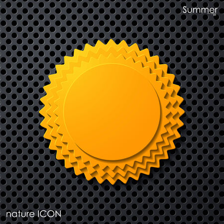 summer sun icon Stock Vector - 24350067
