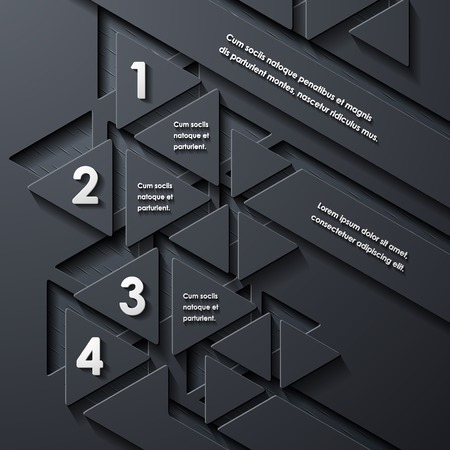 modern infographic, realistic design elements Vector