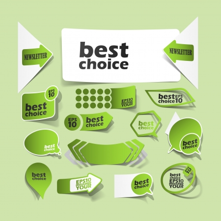 collection premium and high quality Labels, sign quality and satisfaction in the form of stickers Vector
