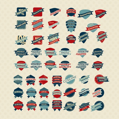 genuine good: Vintage Retro Icons And Labels