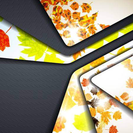 multi layered abstract background with the theme of autumn Vector