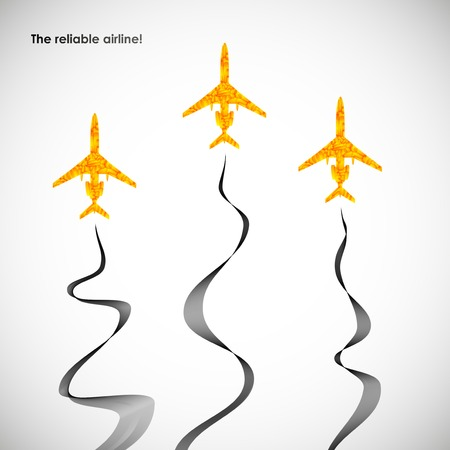airplane, vector abstract background Illustration