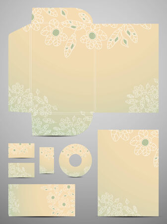 stationery set: stationery set Illustration