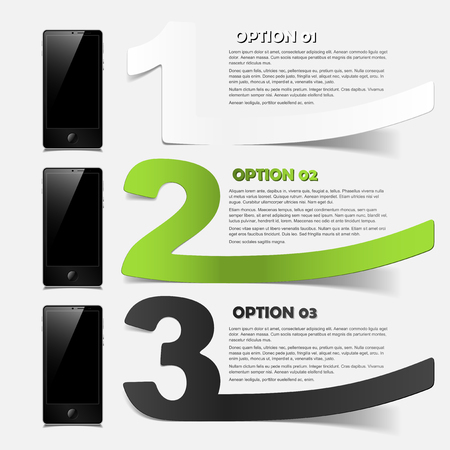 phone concept: realistic design elements Vector