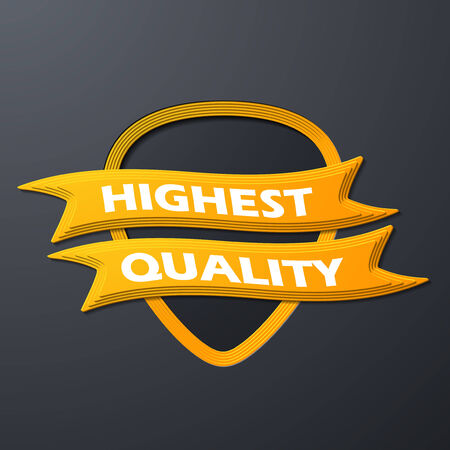 icon quality Vector