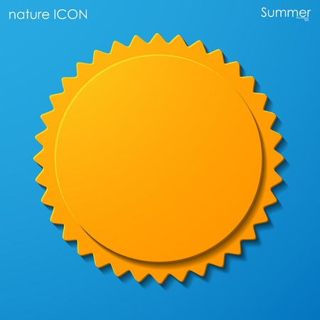 summer sun icon Vector