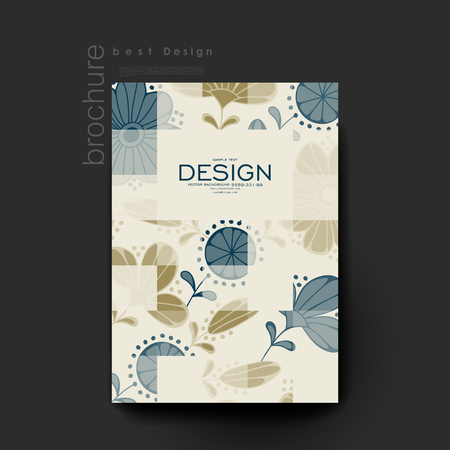 winds: floral background vector brochure template. Flyer Layout. Creative modern design