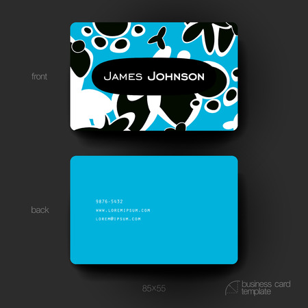 varied: Business card template with abstract background. Creative modern design
