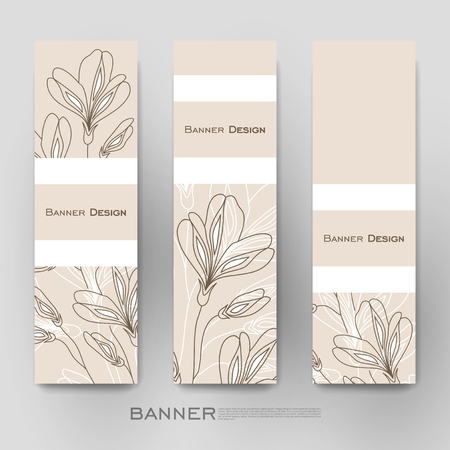 wallpaper design: Beautiful banner template with floral ornament background. Creative modern design
