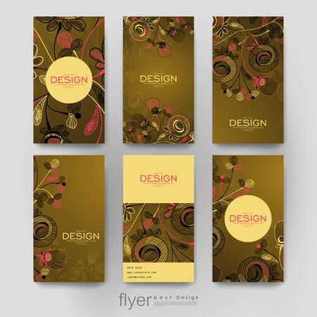 varied: floral ornament brochure template. Creative modern design