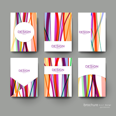 textiles: abstract background vector brochure template. Flyer Layout. Creative modern design