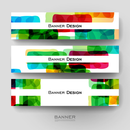 varied: Beautiful banner vector template with abstract background. Creative modern design Illustration