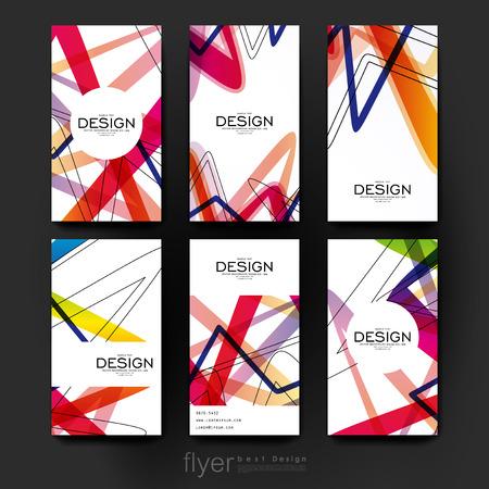Fondo del modelo del folleto del vector abstracto. Disposición folleto. moderno diseño creativo