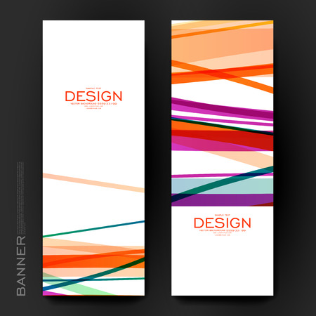 Beautiful banner vector template with abstract background. Creative modern design Vectores