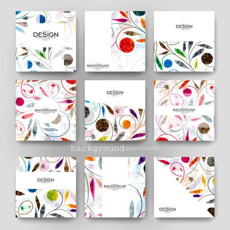 floral ornement brochure vecteur modèle. Flyer mise en page. design moderne Creative Vecteurs