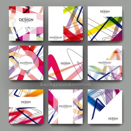 arte moderno: Fondo del modelo del folleto del vector abstracto. Disposición folleto. moderno diseño creativo Vectores