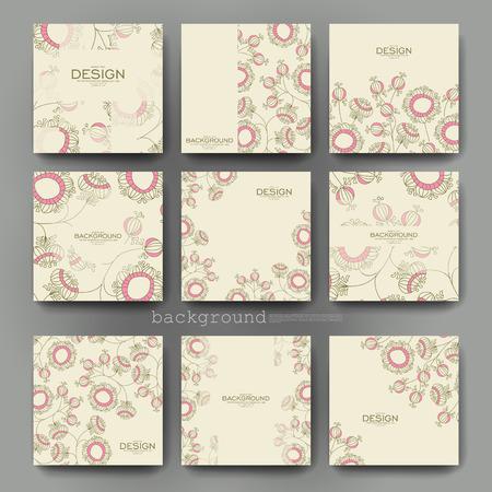 floral abstract vector brochure template. Flyer Layout. Creative modern design Vektoros illusztráció